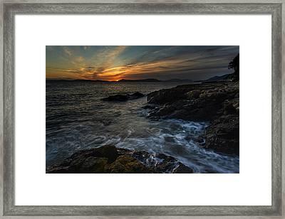 San Juans Sunset Mood Framed Print by Mike Reid