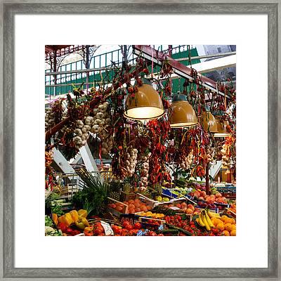 San Lorenzo Produce Framed Print