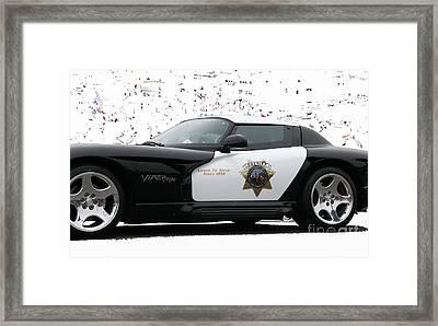 San Luis Obispo County Sheriff Viper Patrol Car Framed Print