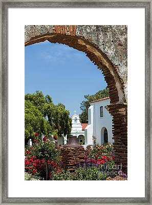 San Luis Rey - Mission Church Framed Print by Sandra Bronstein