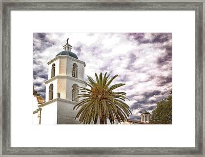 San Luis Rey Mission Framed Print by James David Phenicie