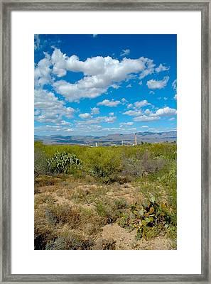 San Manuel Stacks Framed Print by T C Brown
