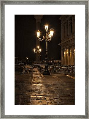 San Marco Cafe Framed Print