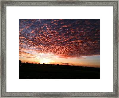 Framed Print featuring the photograph San Marcos Sunrise by David  Norman