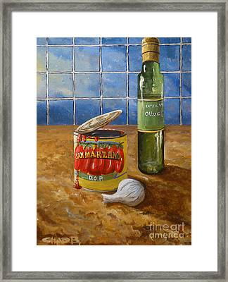 San Marzano Framed Print by Chad Berglund