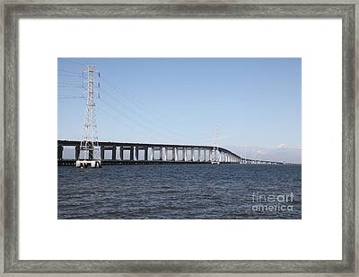 San Mateo Bridge In The California Bay Area 5d21889 Framed Print by Wingsdomain Art and Photography