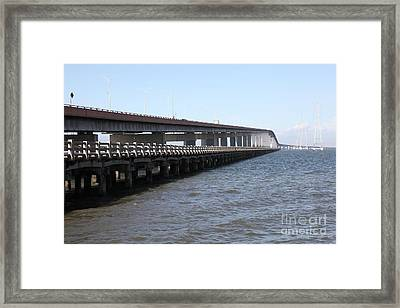 San Mateo Bridge In The California Bay Area 5d21892 Framed Print by Wingsdomain Art and Photography
