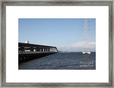 San Mateo Bridge In The California Bay Area 5d21893 Framed Print by Wingsdomain Art and Photography