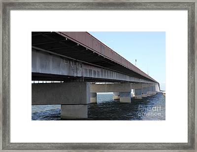San Mateo Bridge In The California Bay Area 5d21897 Framed Print by Wingsdomain Art and Photography