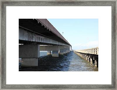 San Mateo Bridge In The California Bay Area 5d21898 Framed Print by Wingsdomain Art and Photography