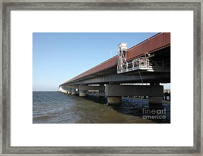 San Mateo Bridge In The California Bay Area 5d21900 Framed Print by Wingsdomain Art and Photography