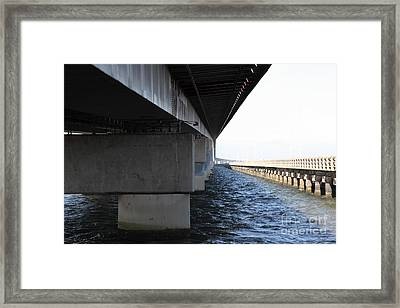 San Mateo Bridge In The California Bay Area 5d21908 Framed Print by Wingsdomain Art and Photography