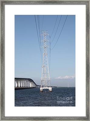 San Mateo Bridge In The California Bay Area 5d21909 Framed Print by Wingsdomain Art and Photography
