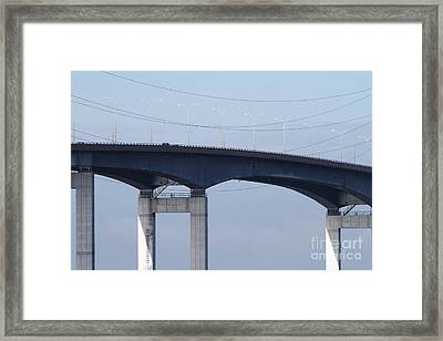 San Mateo Bridge In The California Bay Area 7d21910 Framed Print by Wingsdomain Art and Photography