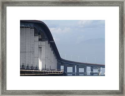 San Mateo Bridge In The California Bay Area 7d21914 Framed Print by Wingsdomain Art and Photography