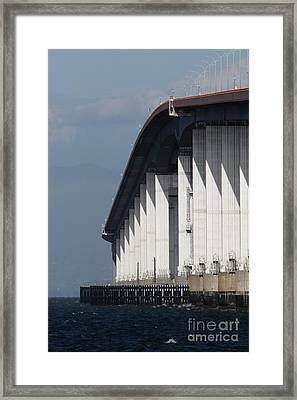 San Mateo Bridge In The California Bay Area 7d21935 Framed Print by Wingsdomain Art and Photography