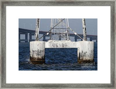 San Mateo Bridge In The California Bay Area 7d21943 Framed Print by Wingsdomain Art and Photography