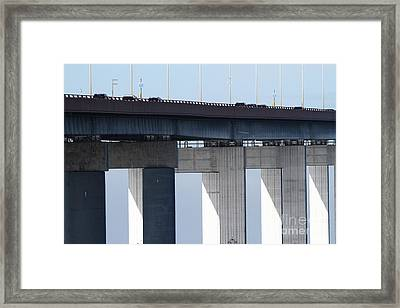 San Mateo Bridge In The California Bay Area 7d21947 Framed Print by Wingsdomain Art and Photography