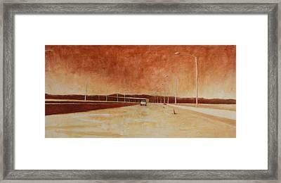 San Mateo Bridge Framed Print by Jeff Levitch