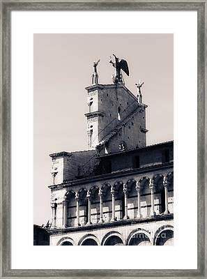 San Michele In Foro Is A Basilica Church In Lucca Framed Print