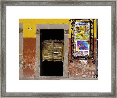 San Miguel Colorful Bar Framed Print by Susie Blauser