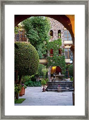 San Miguel De Allende, Mexico, Courtyard Framed Print