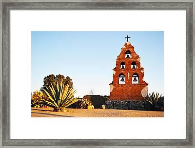 San Miguel Mission Bells Framed Print