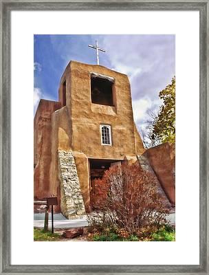 San Miguel Mission Framed Print by David and Carol Kelly