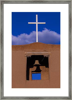 San Miguel's White Cross Framed Print by Garry Gay