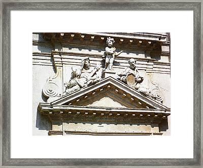 San Moise Church In Venice Fragment  Framed Print by Irina Sztukowski