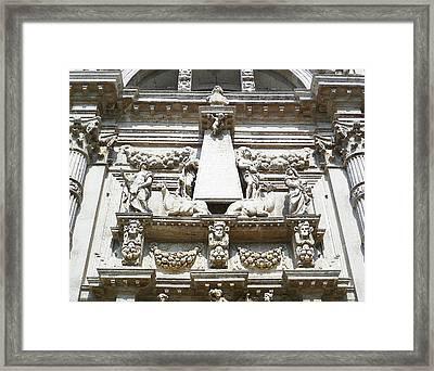 San Moise Church In Venice Italy  Framed Print by Irina Sztukowski