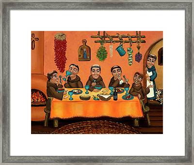 San Pascuals Table Framed Print by Victoria De Almeida