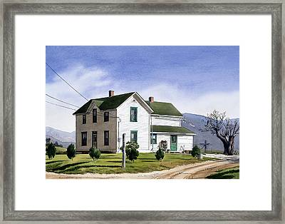San Pasquale House Framed Print by Mary Helmreich
