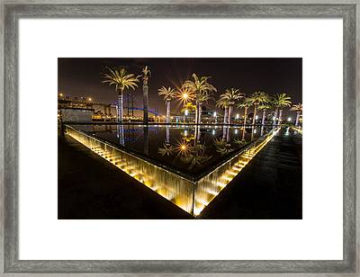 San Pedro Fountains Framed Print