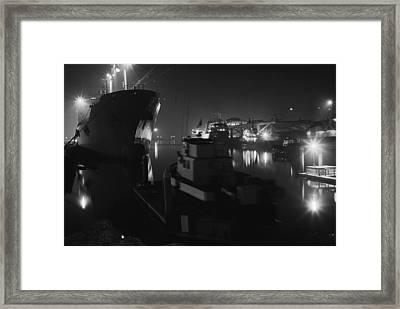 San Pedro Night Shot Framed Print