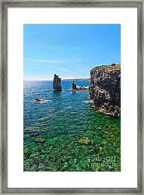San Pietro Island - Le Colonne Framed Print