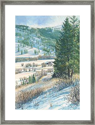 San Poil Valley  Framed Print