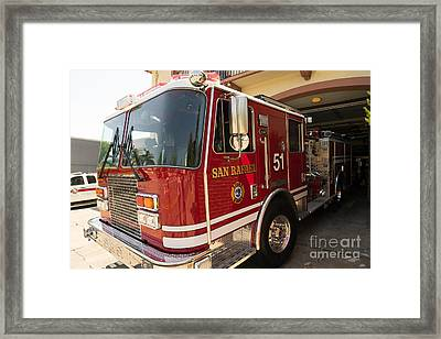 San Rafael California Fire Department Dsc1316 Framed Print by Wingsdomain Art and Photography