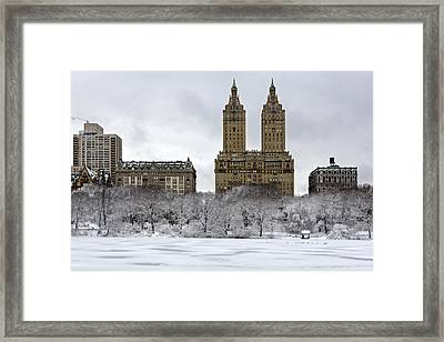 San Remo Towers Central Park Nyc Framed Print by Susan Candelario