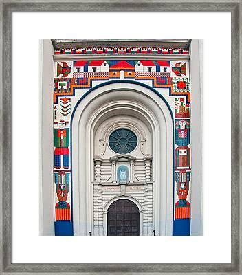 San Salvador Mural Framed Print by Dennis Cox WorldViews