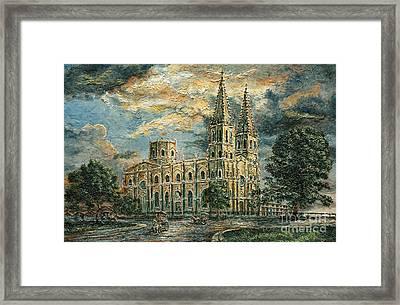 San Sebastian Church 1800s Framed Print