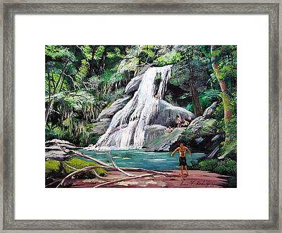 San Sebastian Waterfall Framed Print