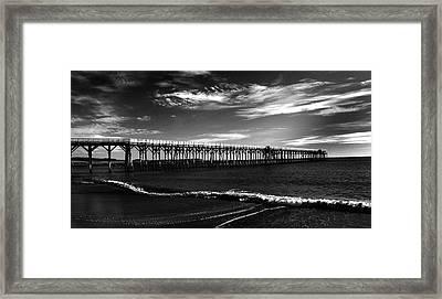 San Simeon Pier-03 Framed Print