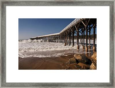 Framed Print featuring the photograph San Simeon Pier by Lee Kirchhevel