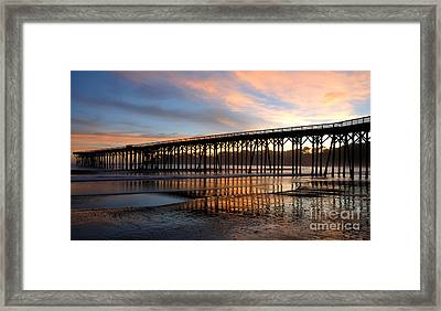 Framed Print featuring the photograph San Simeon Pier by Vivian Christopher