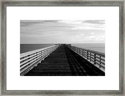 San Simeon Pier Framed Print