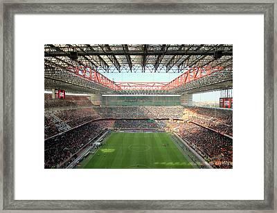 San Siro Stadium Framed Print by Valentino Visentini