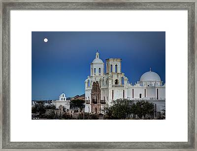 San Xavier Del Bac At Moonset 1 Framed Print