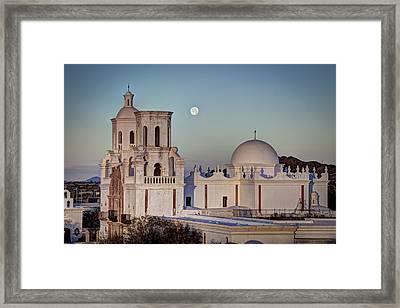 San Xavier Del Bac At Moonset 2 Framed Print