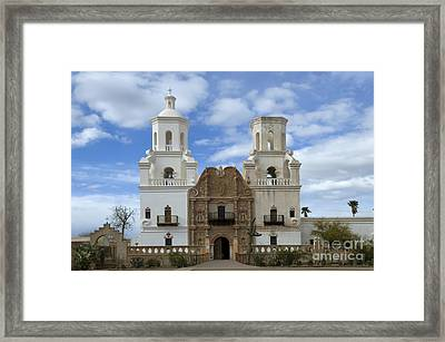 San Xavier Del Bac Mission Facade Framed Print by Bob Christopher